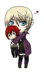 TereAlo Chibi Holding Chibi Page Dolly by SpiritAmong-Darkness