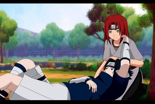 AU Sasuke x Akari by ValiChan