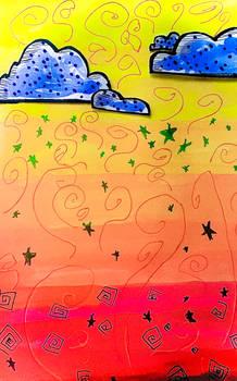 swirls, stars and sweet fluffy clouds