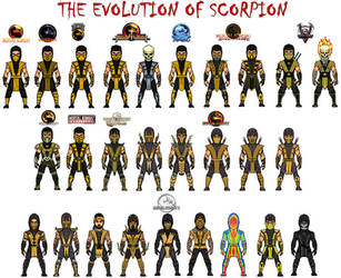 Evolution of Scorpion by dzgarcia