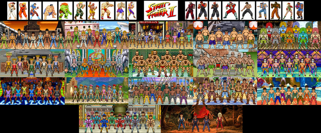 Street Fighter Ii Stages And Palette Swaps By Dzgarcia On Deviantart