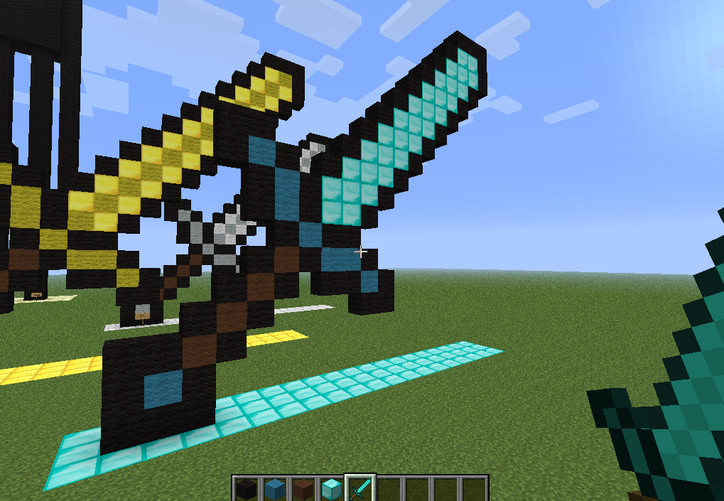 how to make a laser sword in minecraft