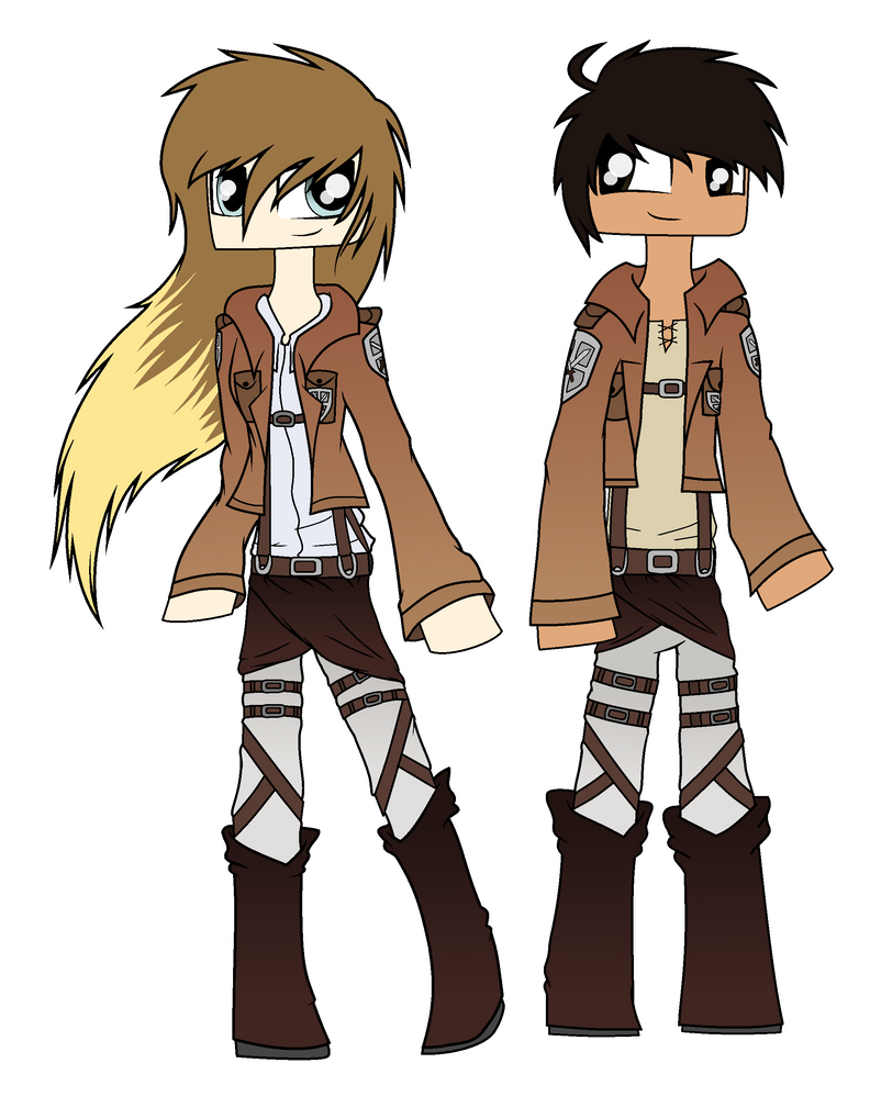 AoT Katzy and Zecon by Laser-Pancakes