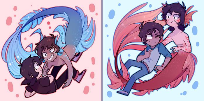 Mermaid au for the soul