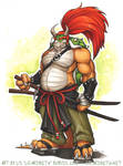 Samurai Bowser by Lizzie-Bean