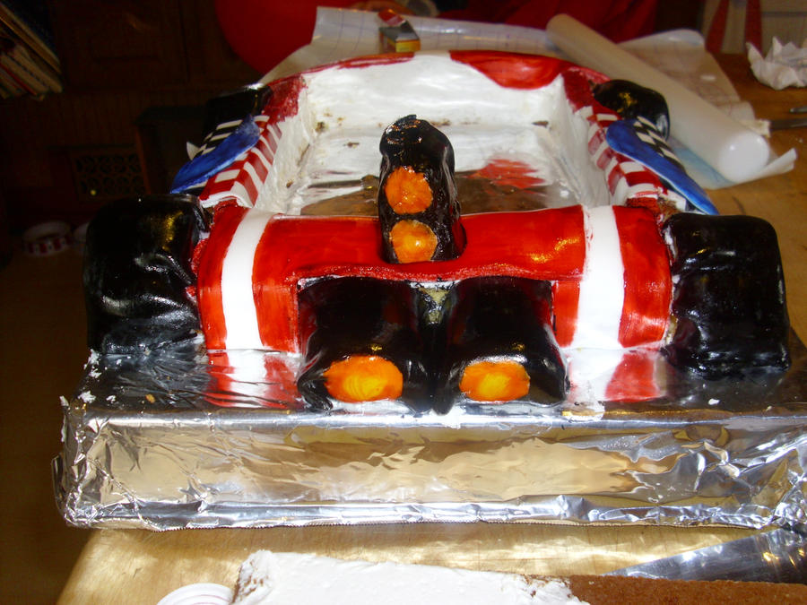 mario kart cake progress pic 7 by toastles