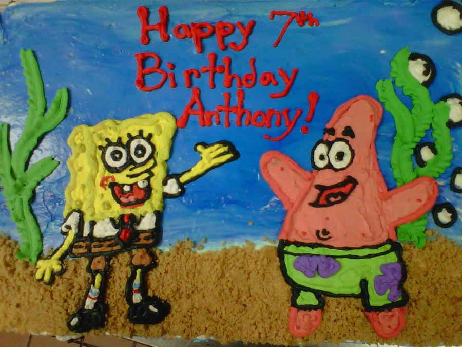 spongebob cake 1 by toastles