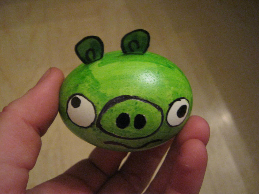 angry bird pig egg by toastles