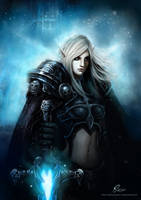 Faces of Warcraft - DK by MercurialXen