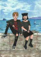 Jeremy e Atena by Piombino's docks by alex-crocodylia