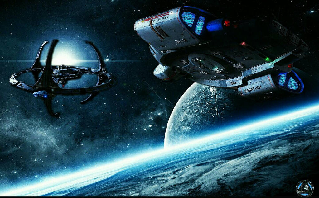 The Defiant Returning Home to DS9 by NovaStar916
