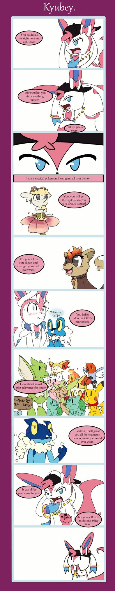 A Kyubey comic by Multiworx