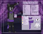 . : Sirius the Shadow Bunny (NEW) ref sheet : .