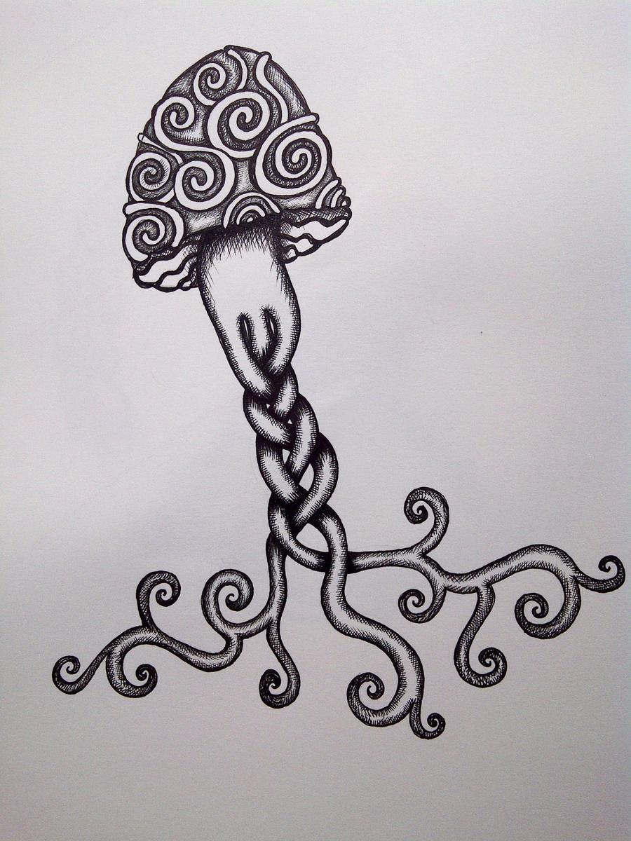 Trippy Drawings Of Mushrooms Viewing Gallery