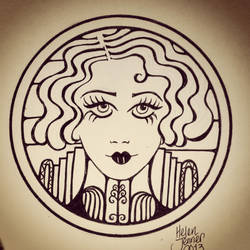 Art deco lady by Kisses-of-night