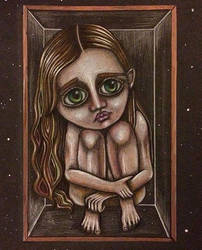 Girl in a glass box by Kisses-of-night
