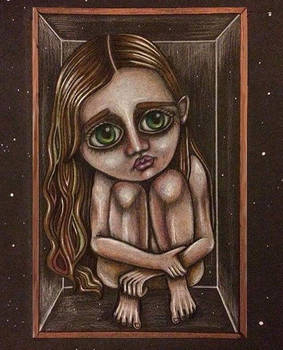 Girl in a glass box