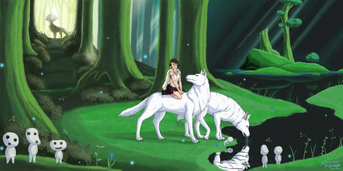 San in the Forest of Spirits by Draethius