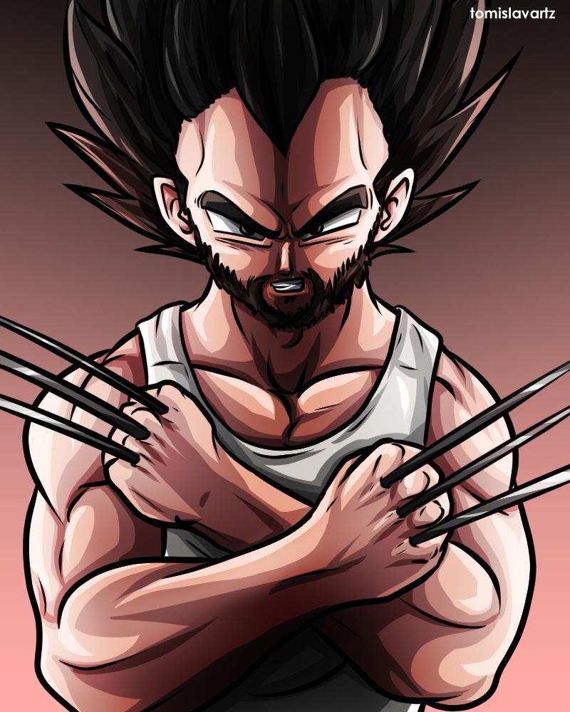 c6034ad02a9 Vegeta x Wolverine (DBZ and Marvel crossover) by TomislavArtz on ...