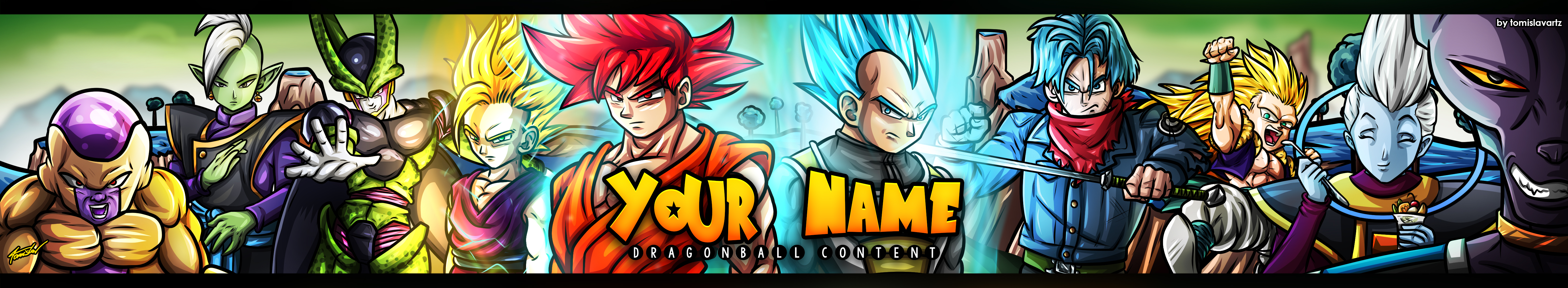 Free Dragon Ball Youtube Banner Download By Tomislavartz On