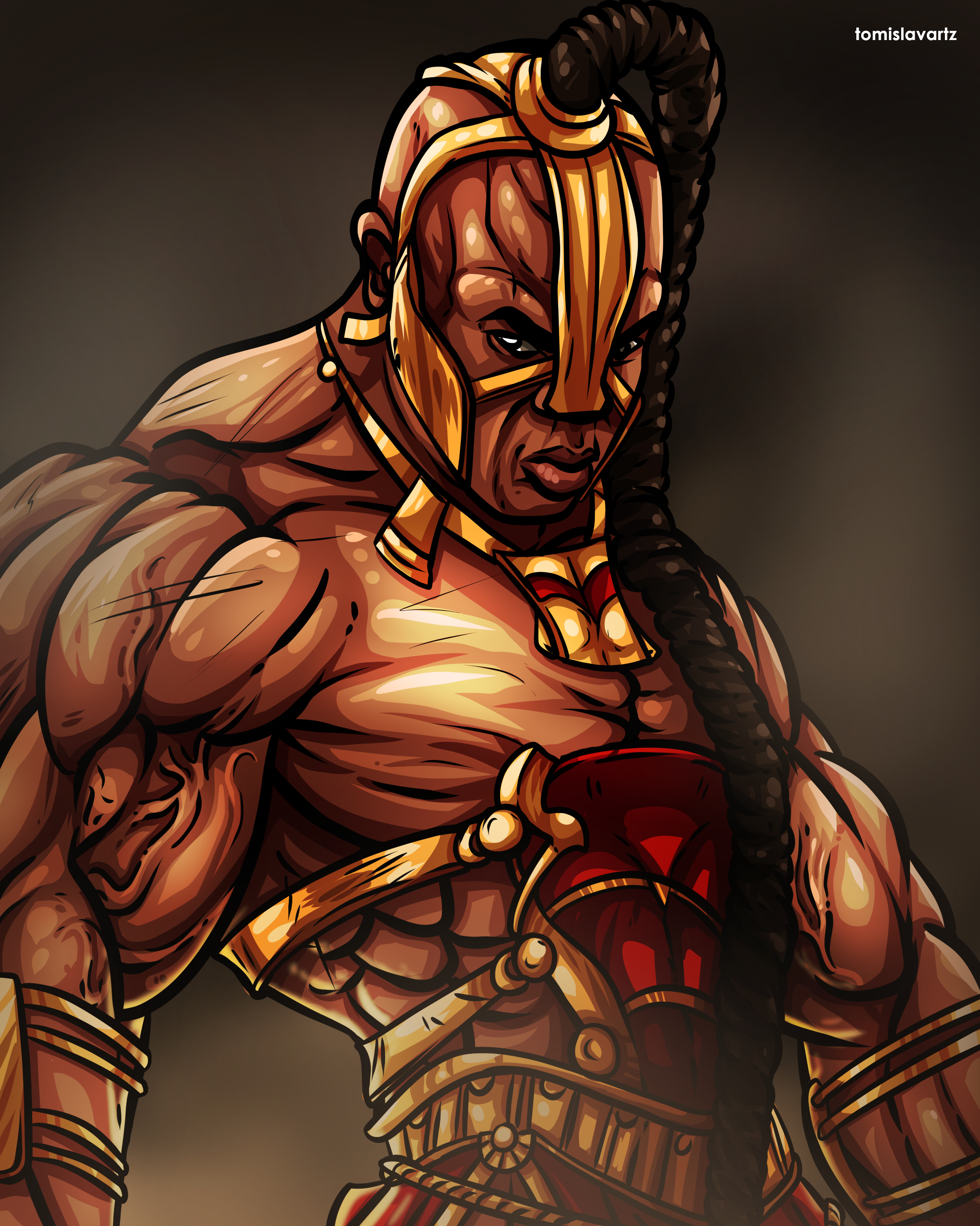 The chronicles of king kai fan art by tomislavartz on for Kai greene painting