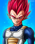Vegeta - Super Saiyan God (Dragon Ball Super)