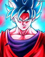 Son Goku (SSB Kaioken) - Dragon Ball Fanart by TomislavArtz