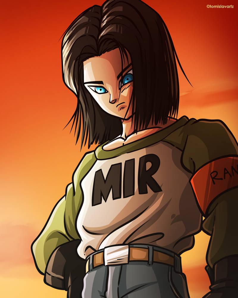 Android 17 Dragon Ball Super Fan Art By Tomislavartz On Deviantart