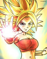 Caulifla SSJ Fan Art [Dragon Ball Super] by TomislavArtz