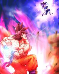 Son Goku vs Vegeta [Dragon Ball Z Fan Art] by TomislavArtz