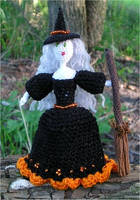Halloween witch doll by FoxandMoon