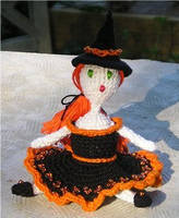 Sitting witch doll by FoxandMoon