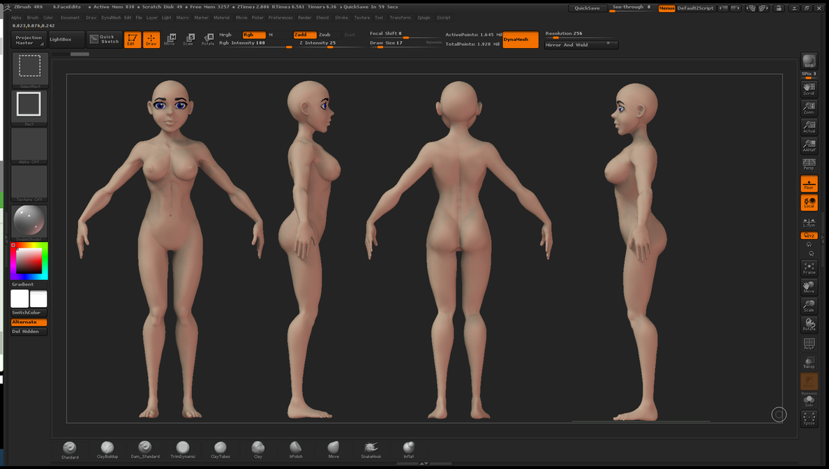 Female Anime Base WIP 02 by grico316