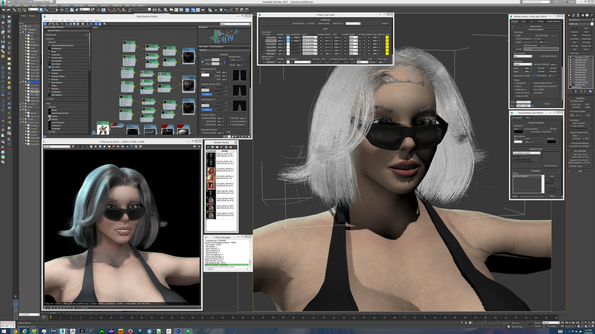 3ds Max at 4K resolution Day 1 by grico316
