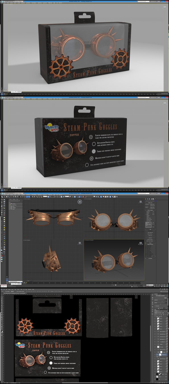 Steampunk Googles: Package Design by grico316