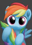 Curious Rainbow Dashie