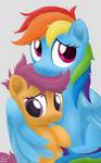 Photograph - Rainbow Dash and Scootaloo
