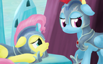 Jousting - Fluttershy and Rainbow Dash