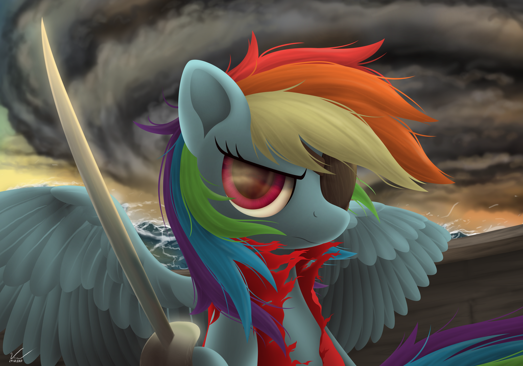 Pirate Rainbow Dash by SymbianL