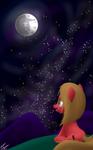 Pun Staring at the Moon