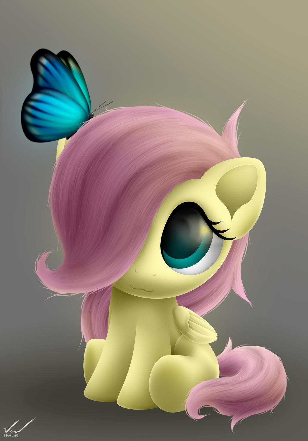 Baby Fluttershy by SymbianL