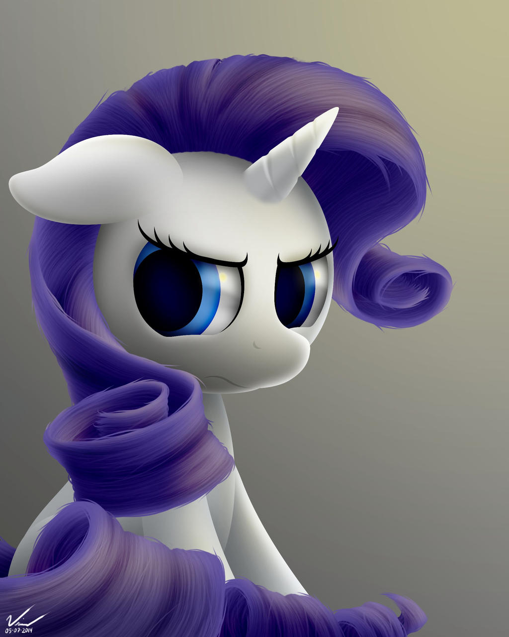 Rarity's Frustration by SymbianL