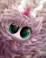 Pink Fluffeh Unicorn by SymbianL