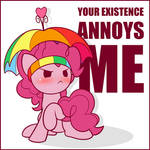 Positively Peeved Pink Party Poni