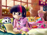 Reading with Twilight Sparkle