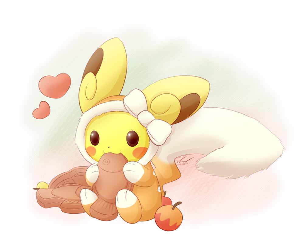 Pikachu in Alolan Raichu Outfit by SymbianL