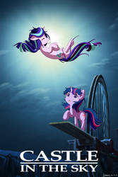 Castle in the Sky with Twilight and Starlight