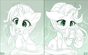 Starlight and Trixie on the Phone