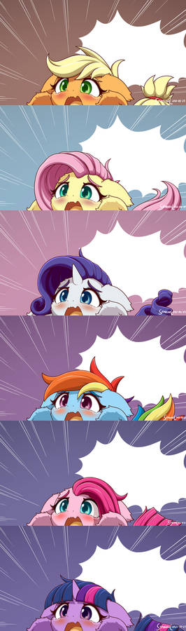 All Mane Six Crying Blanks