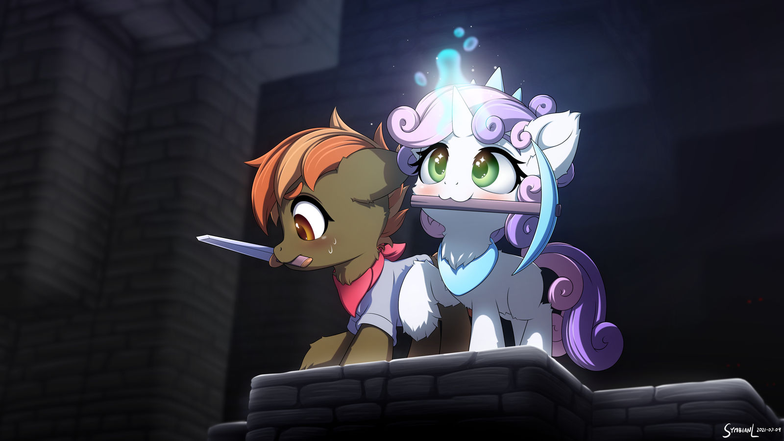 sweetie_and_button_go_mining_by_symbianl